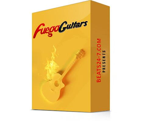 "Royalty Free Guitar Loops & Trap Drum Kit ""Fuego Guitars"" | Beats24-7"