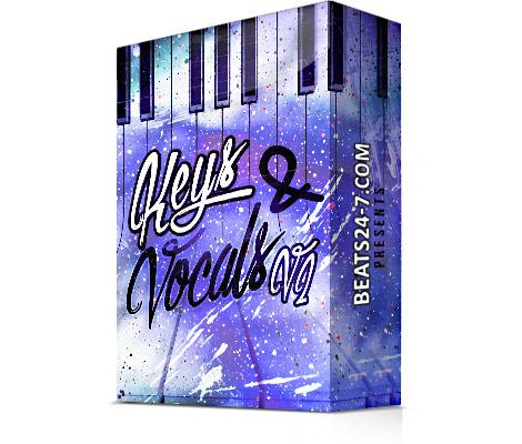 """Royalty Free Piano Loops & Vocal Samples """"Keys & Vocals V2"""" Beats24-7"""