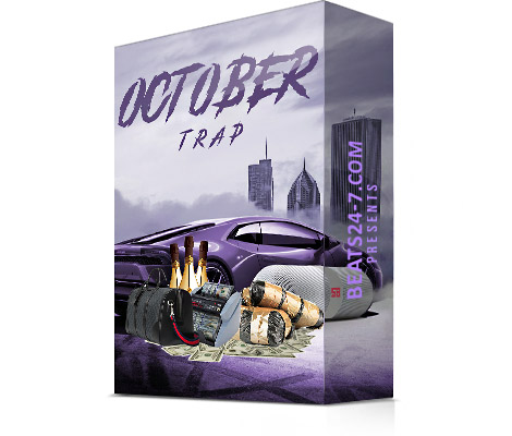 """Royalty Free Trap Loops (Trap Loop Kit) """"Trap Wave October""""   Beats24-7"""